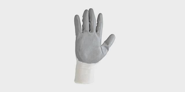 Перчатки вязаные нейлоновые с нитриловым покрытием ладони и пальцев