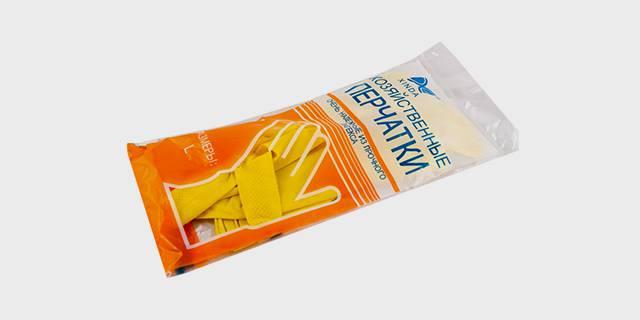Перчатки латексные бытовые. Хозяйственные